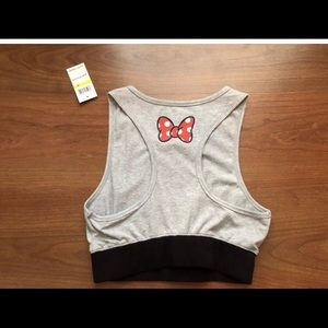 a6db0a7c40885 Disney Tops - NWT Disney Minnie Juniors Sports Bra Crop Top Med